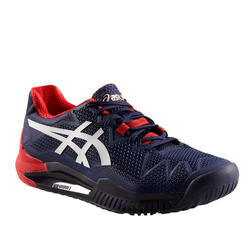CHAUSSURES DE TENNIS HOMME GEL RESOLUTION 8 MARINE MULTI COURT