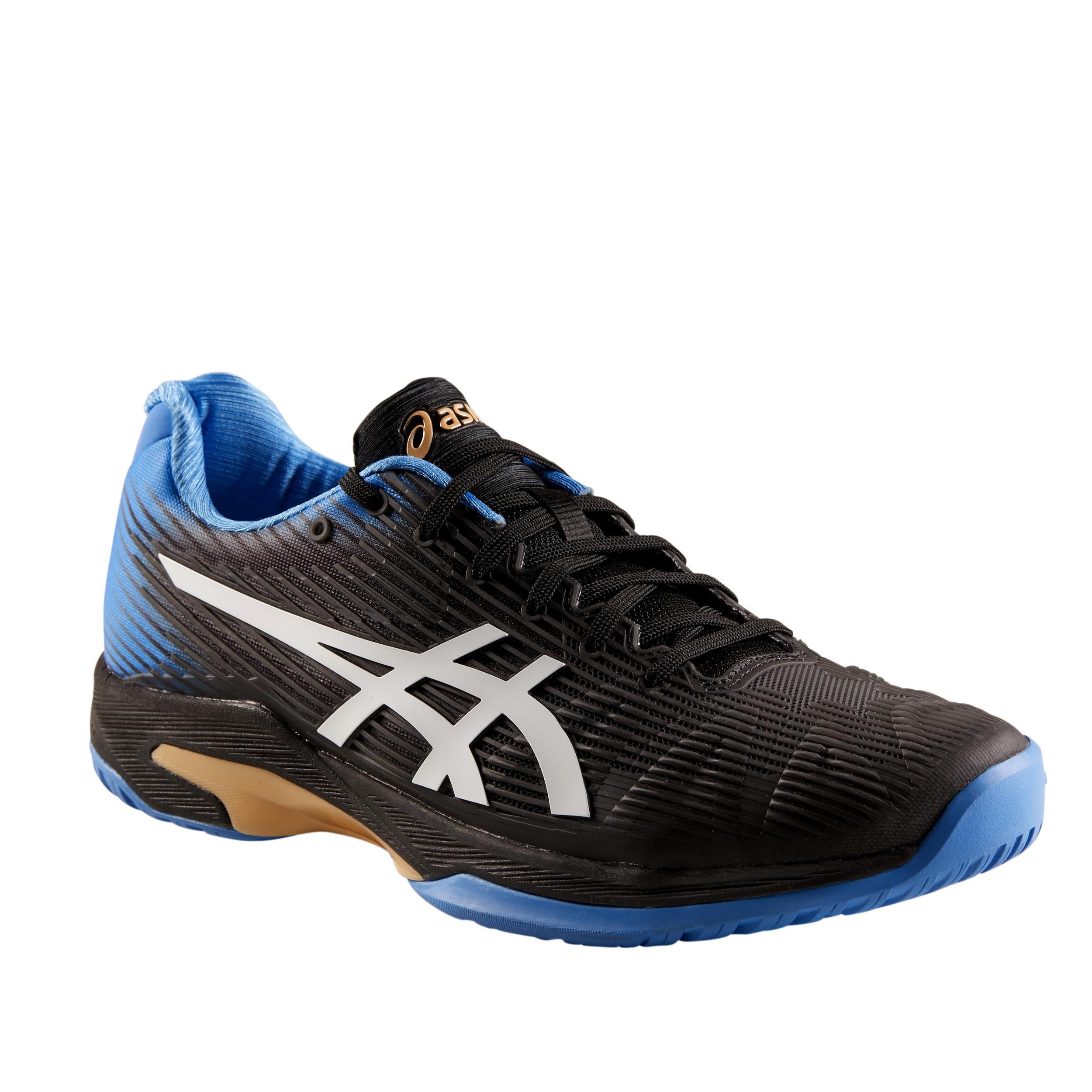 Men's Gel-Solution Speed FF Multi-Court Tennis Shoes - Black/Blue ...