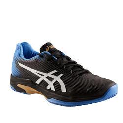 Tennisschoenen voor heren Asics Gel Solution Speed FF multicourt zwart blauw