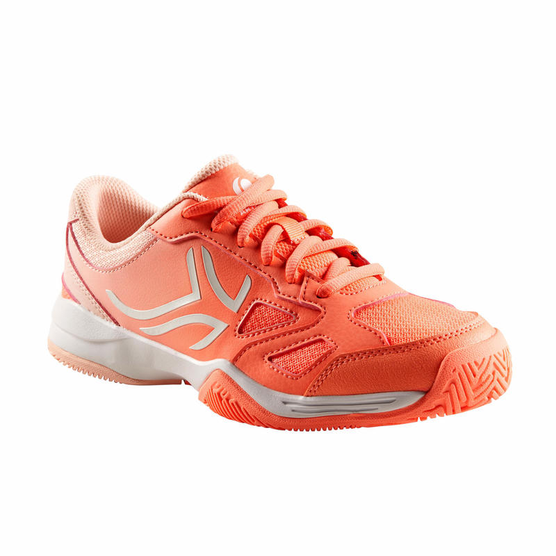 兒童款網球鞋TS560-珊瑚紅