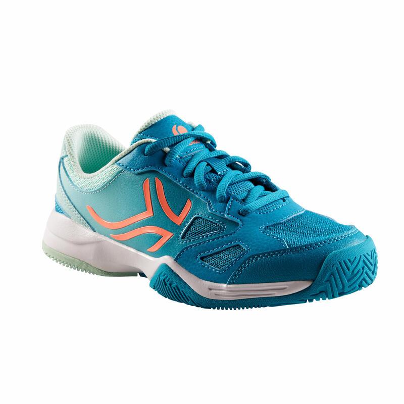 Dětské tenisové boty TS560 tyrkysové