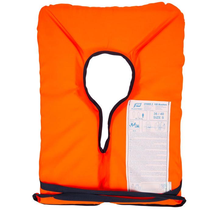 Rettungsweste Schaumstoff Storm 100N Erwachsene orange