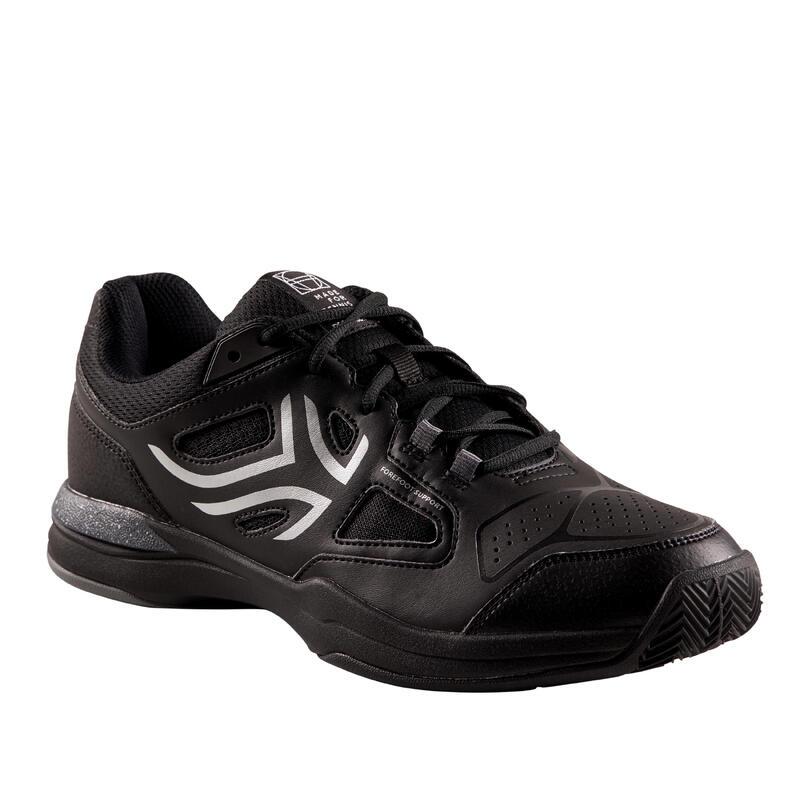 Încălțăminte Tenis pe Zgură TS500 Negru-Gri Bărbați