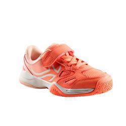Tennisschoenen voor kinderen Artengo TS560 koraalrood