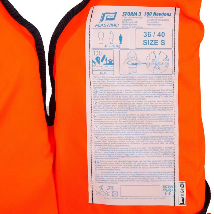 Brassière de sauvetage mousse adulte Storm 100N orange - 177831