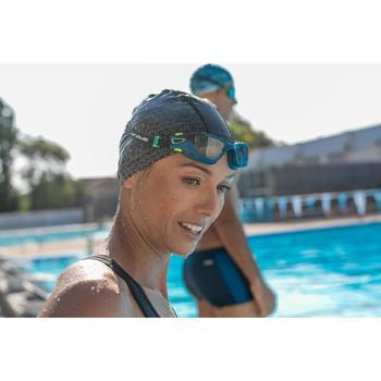 Zwembril 500 Spirit maat S blauw/zwart met heldere glazen