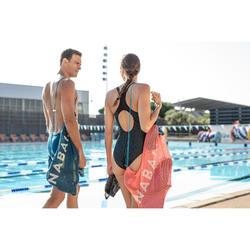 Zwemtas in netstof 30 l blauw