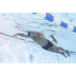 Schwimmbrille klar 500 Spirit Größe L blau/grün