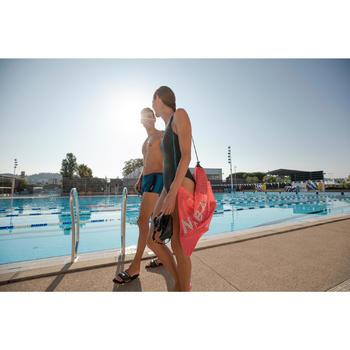 Badslippers voor zwemsport heren Slap 900 Soft zwart/geel