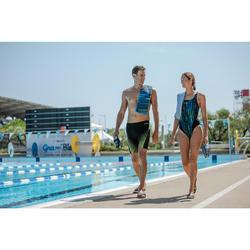 Badslippers voor zwembad dames Slap 500 Sea zwart/roze
