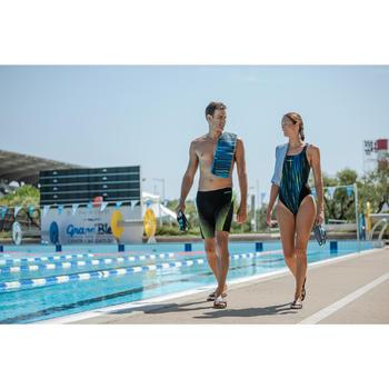 黃色扣式一件式連身泳裝KAMIYE