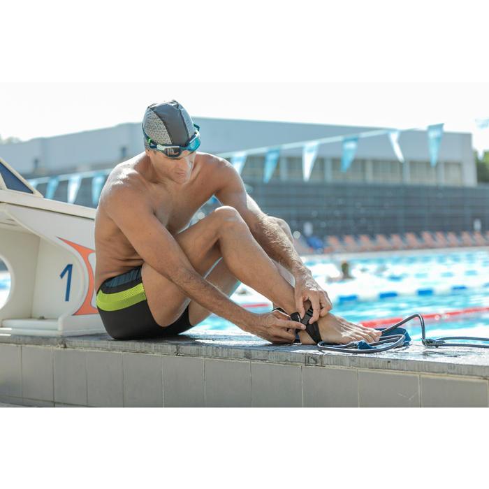 Zwemboxer heren 500 Yoke zwart/geel