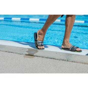 Men's Pool Sandals Slap 900 - Soft Black Yellow