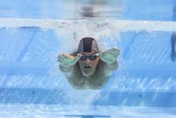 Lunettes de natation 500 SPIRIT Taille G Bleu Vert verres clairs