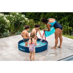 男嬰款四角泳褲-深藍色印花