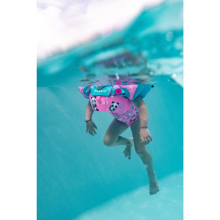 女嬰款連身群泳裝 - 粉紅色印花