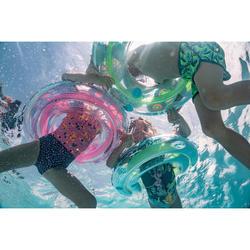 Maillot de bain 1 pièce bébé fille rose et bleu imprimé animaux