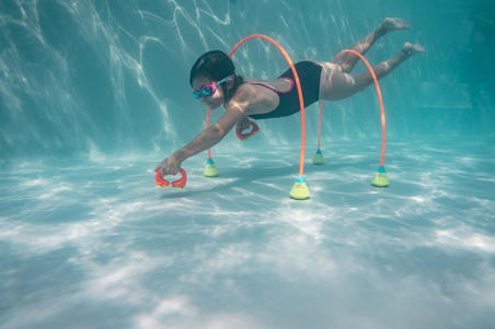 Swimming equipment, TICRAWL suction cup handles to learn how to swim underwater