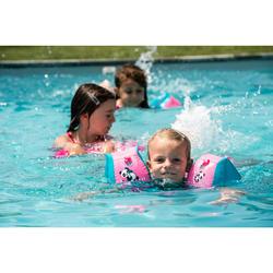 "kids's Swimming Armbands 15 -30 kg Fabric interior Pink ""PANDAS"" print"