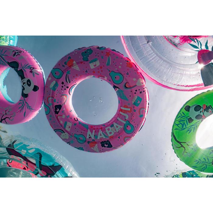 3至6歲兒童用充氣式泳圈51 cm粉紅色「熊貓」印花