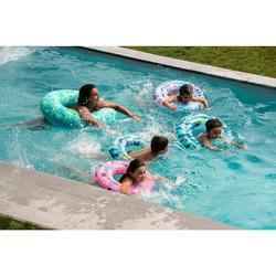 Bouée piscine gonflable imprimée grande taille 92 cm avec poignées