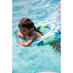 Opblaasbare zwemband 65 cm transparant met print voor kinderen van 6 tot 9 jaar