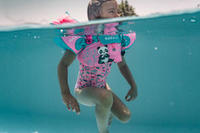 """كتافات سباحة للأطفال TISWIM للخصر والذراعين مطبوع عليها """"باندا""""- وردي"""