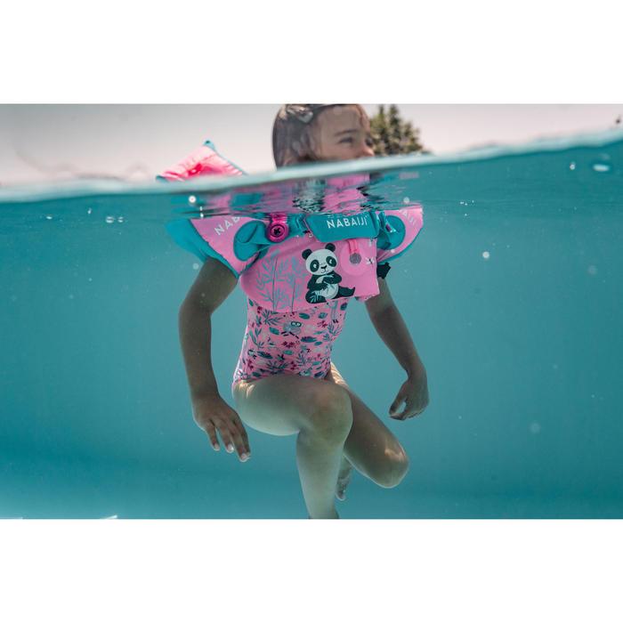 """Brassards-ceinture de natation évolutif TISWIM enfant rose imprimé """"PANDAS"""""""