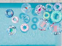 """מצוף מתנפח לשחייה 51 ס""""מ ירוק עם הדפס """"פנדות"""" לילדים בגילאים 3-6"""
