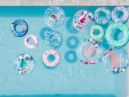 """Piepūšamā peldēšanas boja, 51 cm, ar """"Pandas"""" apdruku, bērniem no 3 līdz 6 g."""