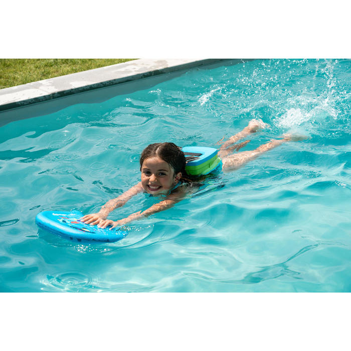 Blue green swimming belt 15-30 kg with removable float