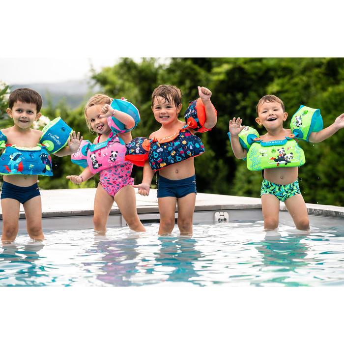 Puddle jumper voor kinderen TISWIM blauw met drakenprint