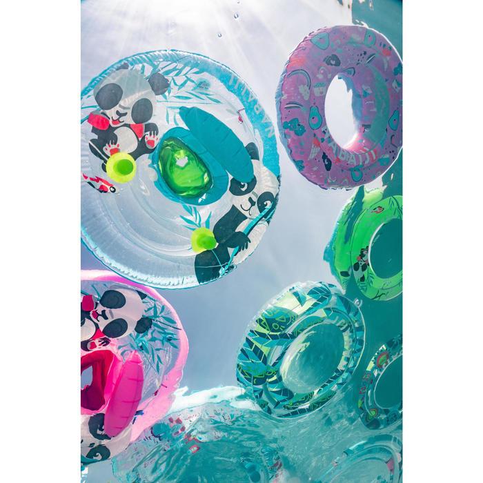 """Bouée de natation gonflable 51 cm vert imprimé """"PANDAS"""" pour enfant 3-6 ans"""