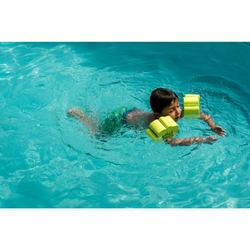 Brassards piscine en mousse vert avec sangle élastiquée pour enfant de 15-30 kg