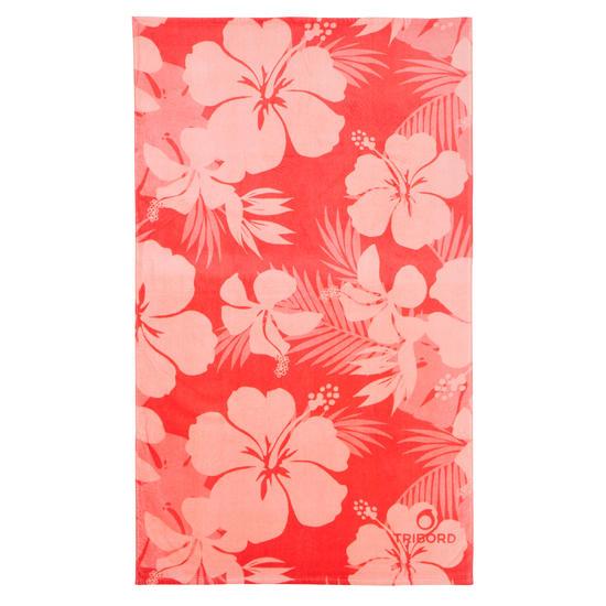 Handdoek Basic L print Rainbow Bluebird 145x85 cm - 177926