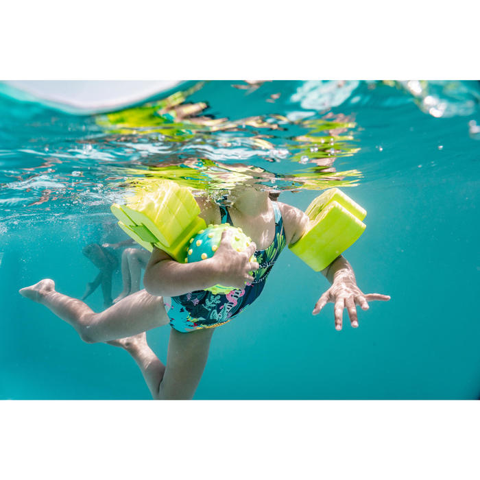 Braçadeiras de Piscina em Espuma com Correia Elástica Criança 15-30 kg - Verde