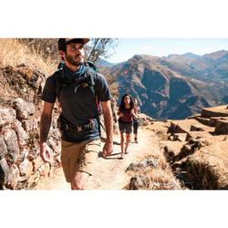 Merino polo voor backpacken heren Travel 500 blauw