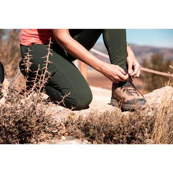Women's Trek Reinforced & Multipocket Leggings Travel 500 - Khaki