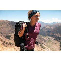 Merino shirt voor backpacken dames Travel 100 paars