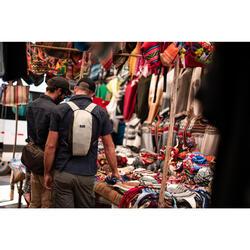 Compact 10 litre trekking travel rucksack TRAVEL 100 - Red