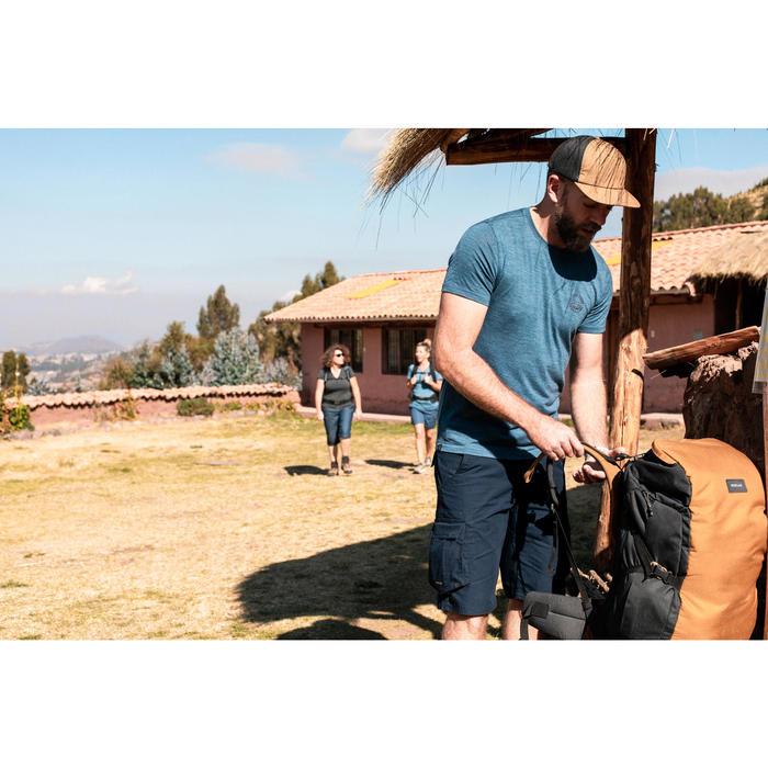 Sac à dos 60 litres de trek voyage | TRAVEL 100 camel - unisexe