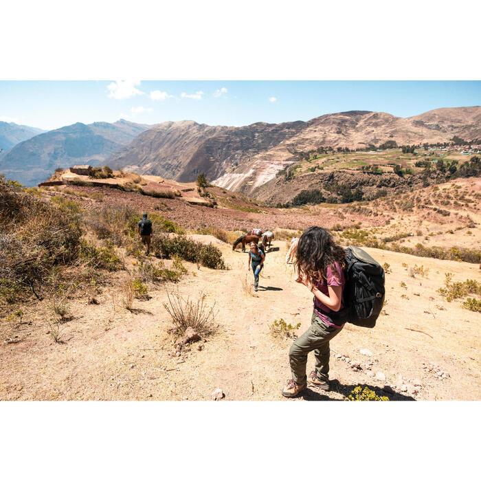 Sac à dos 60 litres de trek voyage | TRAVEL 100 kaki - unisexe