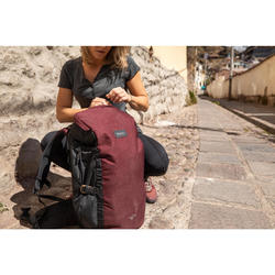 Travel Trekking 40 L Backpack Travel 100 - Burgundy