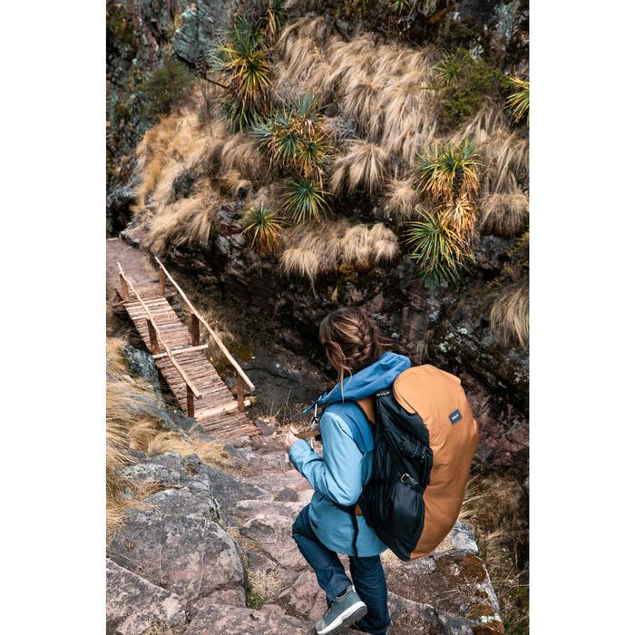 Rugzak voor backpacken Travel 100 60 liter camel
