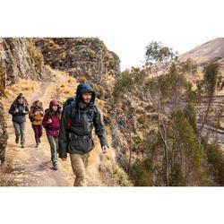 Men's Travel Trekking 3-in-1 Jacket Travel 100 - khaki
