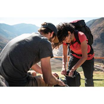 Broek voor backpacken dames Travel 100 grijs