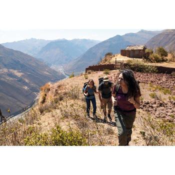 Trekkingbroek Travel 100 dames kaki