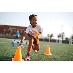 short baggy enfant d'athlétisme AT 100 violet