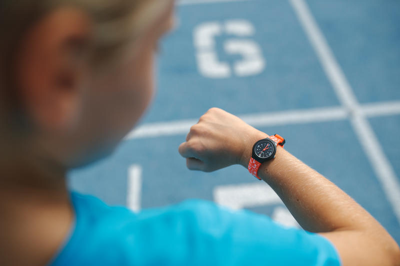 KIDS' SPORT WATCH WITH HANDS A300S - RED