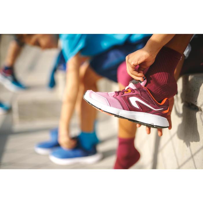 兒童款魔鬼氈運動鞋RUN SUPPORT - 粉紅色/酒紅